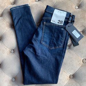 Rag & Bone High Rise Ankle Skinny Tux Jeans 28 6